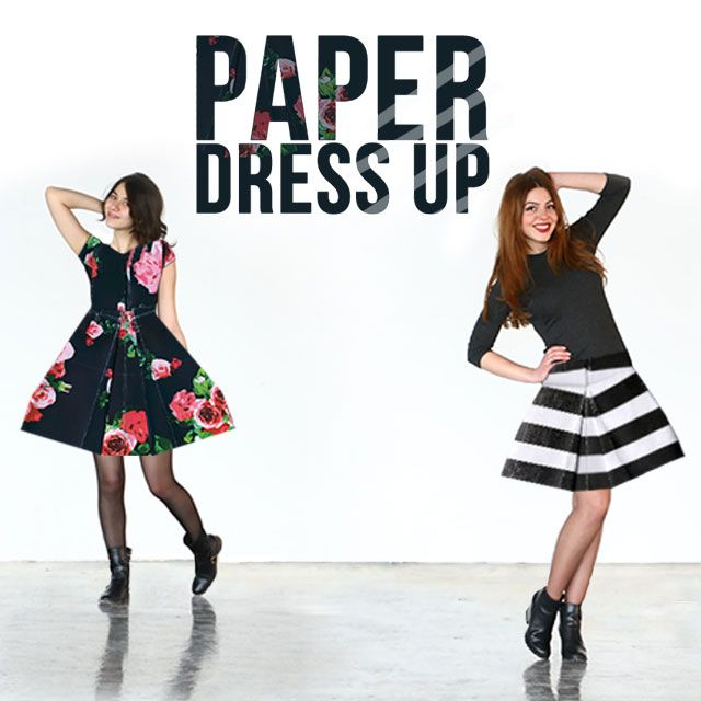 paper dress up clipart