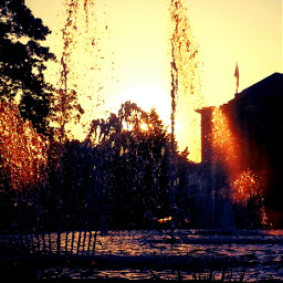 colorful photography sun springbrunnen hallesaale