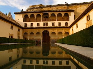 spain alhambra reflection photography