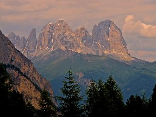 dolomites italy mountains sunset beautiful