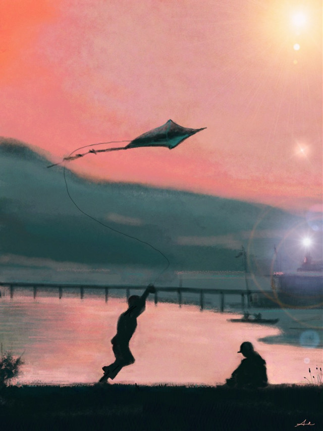 #dckite #interesting #drawing #digitalart #sunset  I drew it with PicsArt on my iPad.