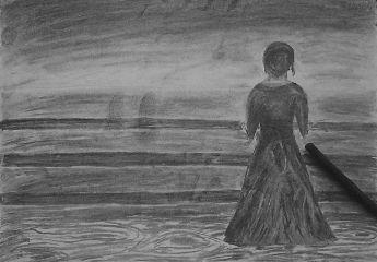 blackandwhite emotions drawing