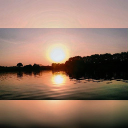 nature sunset lithuania lake