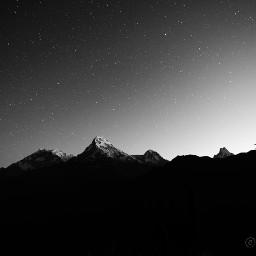 photography poonhill pokhara milkyway nightshot