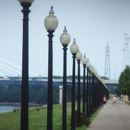kansascity repeating travel bridge streetlamp