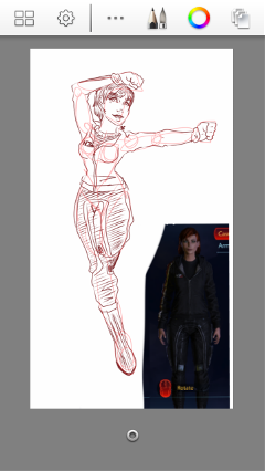 sketch drawing doodle art masseffect