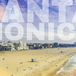 travel wanderlust santamonica beach summer colorful landscape fun edit