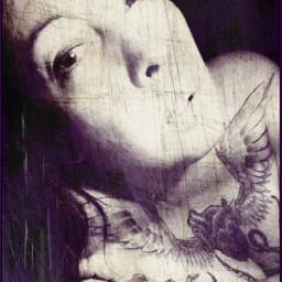 tattoo texturemask womenwithink tattooed chestplate