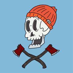 drawing sketch cartoon skull