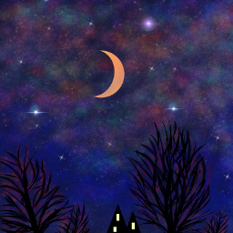 dcnightsky art moon drawing sky