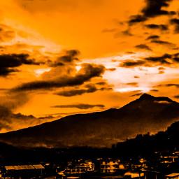 cotacachi simpleedited colorful orangeandbrown mountain