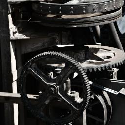blackandwhite gears vintage retro machinery