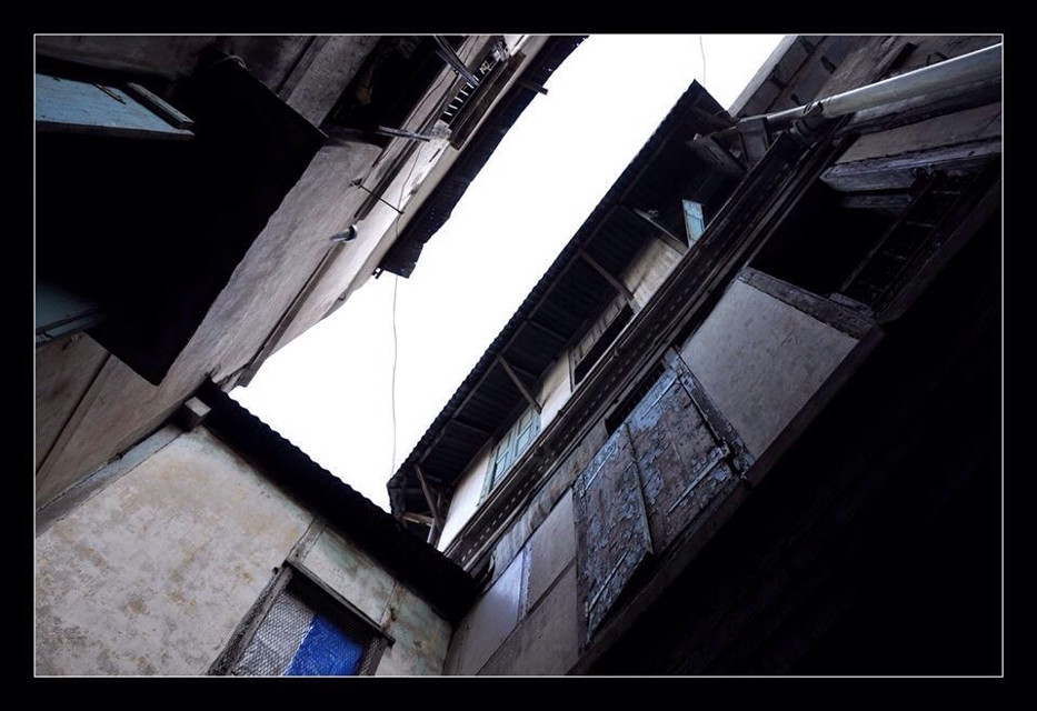 #perspective #depth #old architecture #upwards #sky #dark to light #travel #walk #morning #tradition