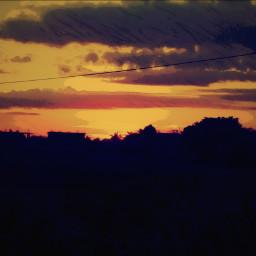 closetonature dusk warm beautiful sunset