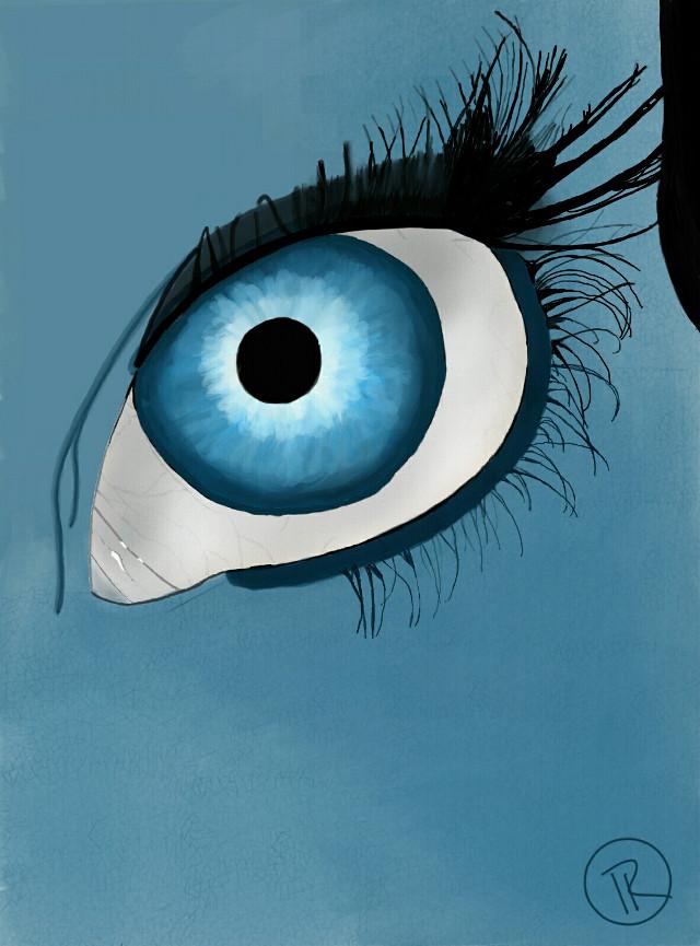 Blue Eye. Completed 9/29/2015. #sketch  #blue  #drawsomethingshowcase