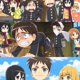 attackontitanjuniorhigh chibi attackontitan anime