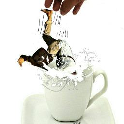 edited hand people fall cup lol