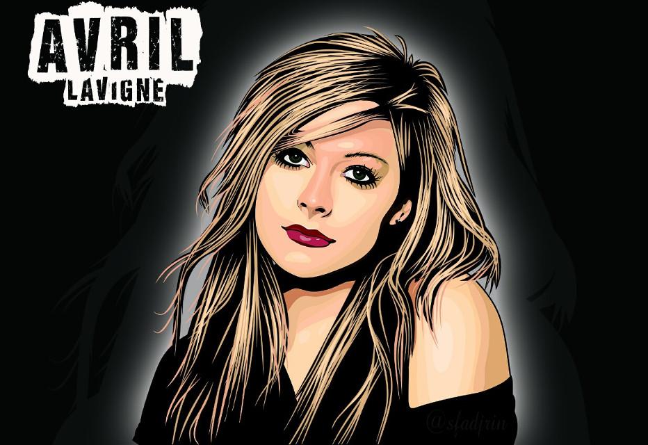 Present : Avrl Lavigne.  do you like it. . . ? yes.. :) #instadesign #instagood #vectorwajah #coreldraw #vectomurah #drawing #photography #avrillavigne @avril_lavigne